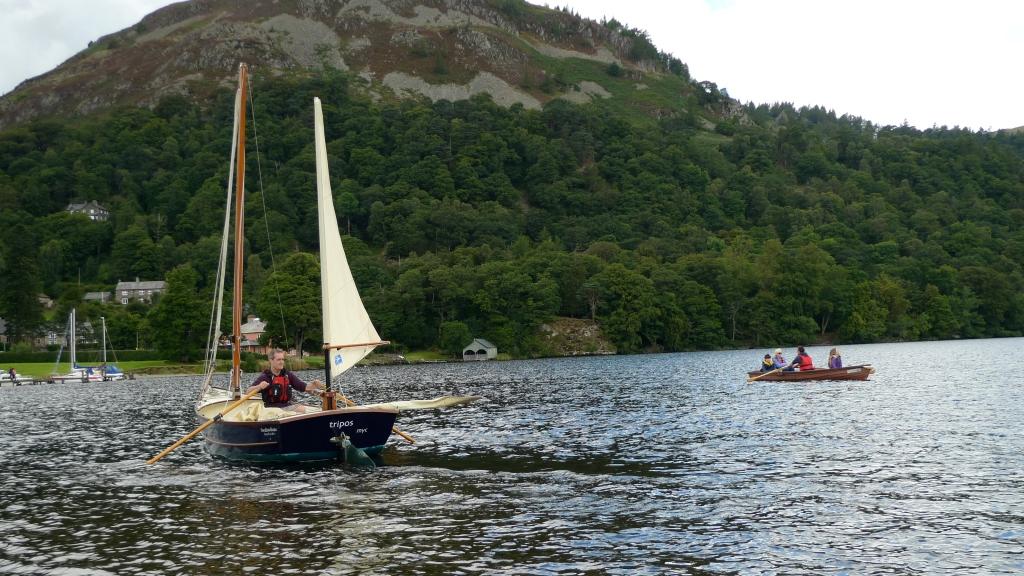 Tony rowing on Ullswater