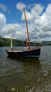 Fixing the boat on Ullswater