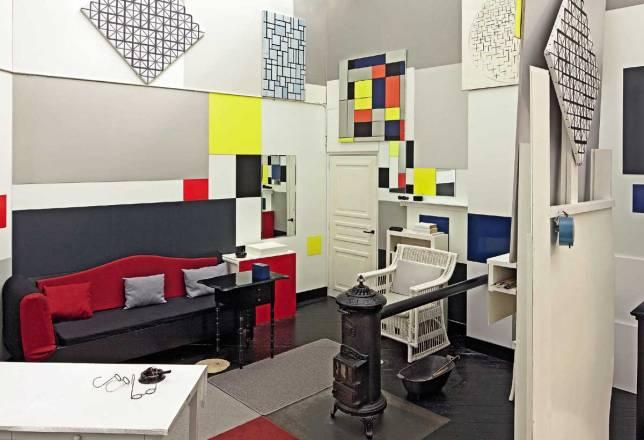 Mondrian's Paris studio reconstruction c/o Tate Gallery