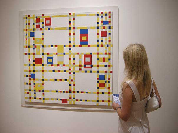 Tammy meets Mondrian at MOMA, New York