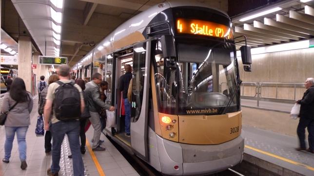 Underground train Brussels