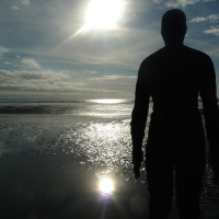 Beach Art - Antony Gormley's Another Place