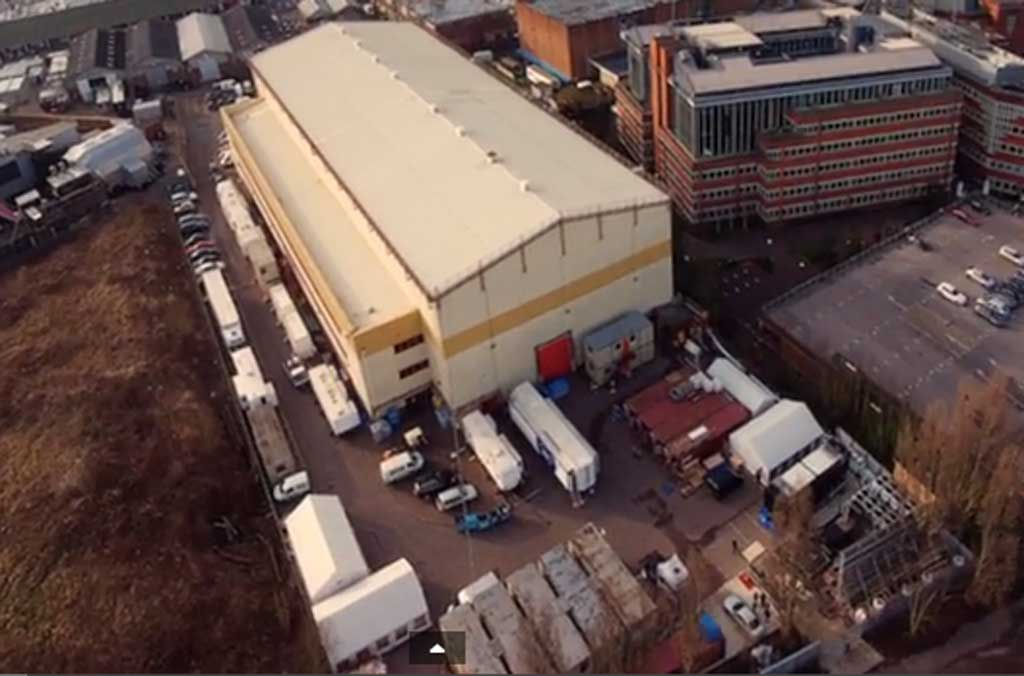 Aerial view of Elstree Studios