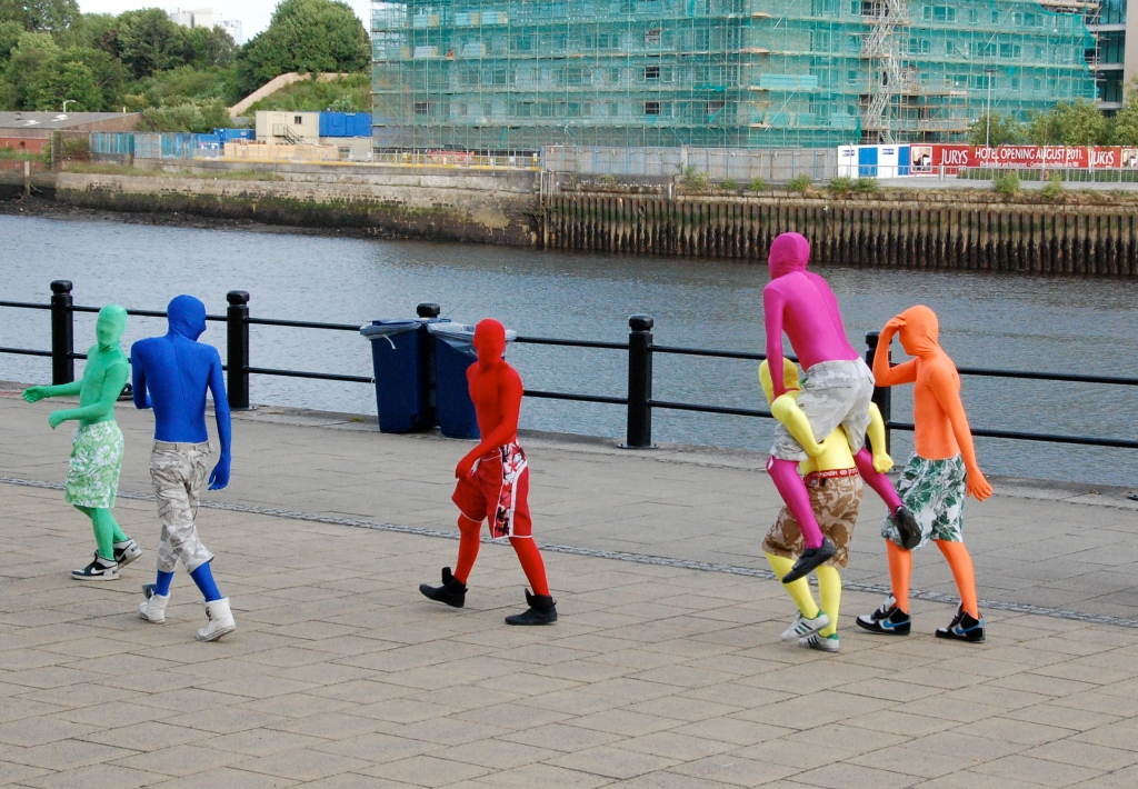Newcastle Quayside revellers