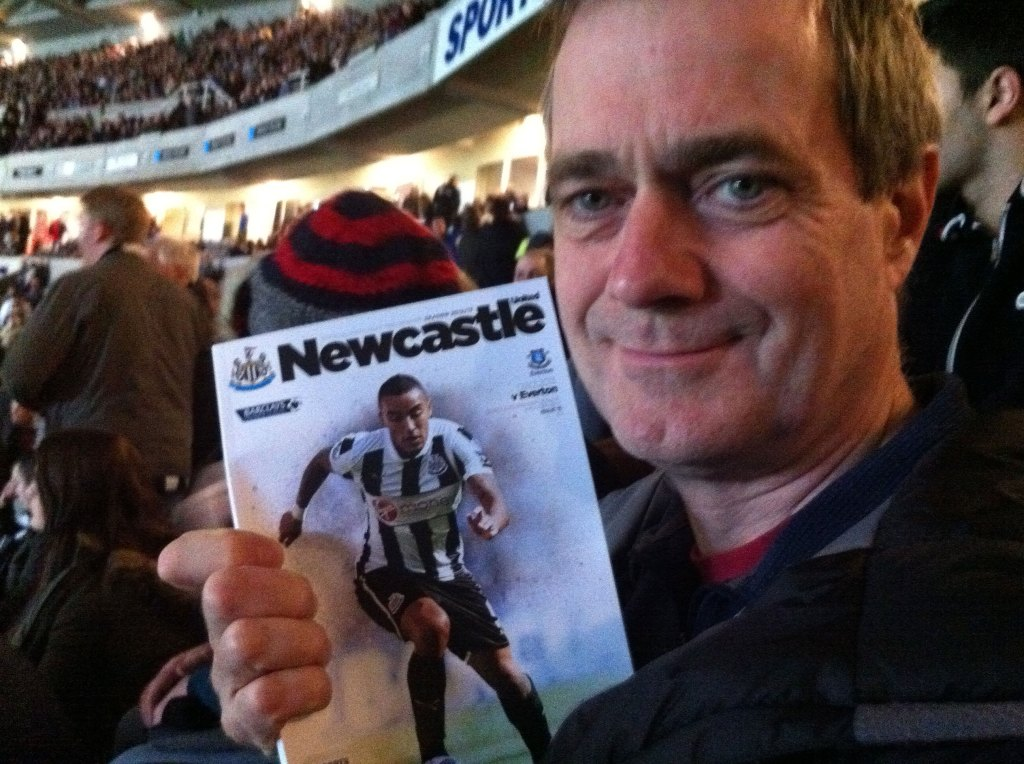 Tony at St James' Park -Newcastle United