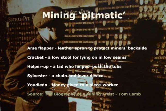 Miners' pitmatic language
