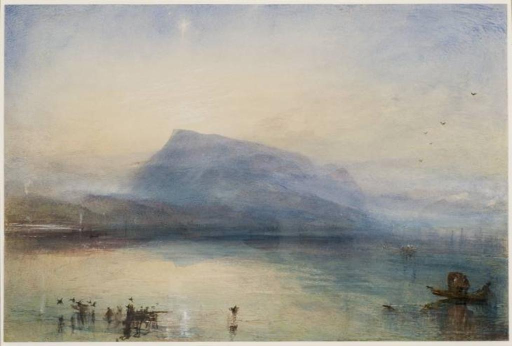The Blue Rigi, Sunrise 1842 by Joseph Mallord William Turner 1775-1851