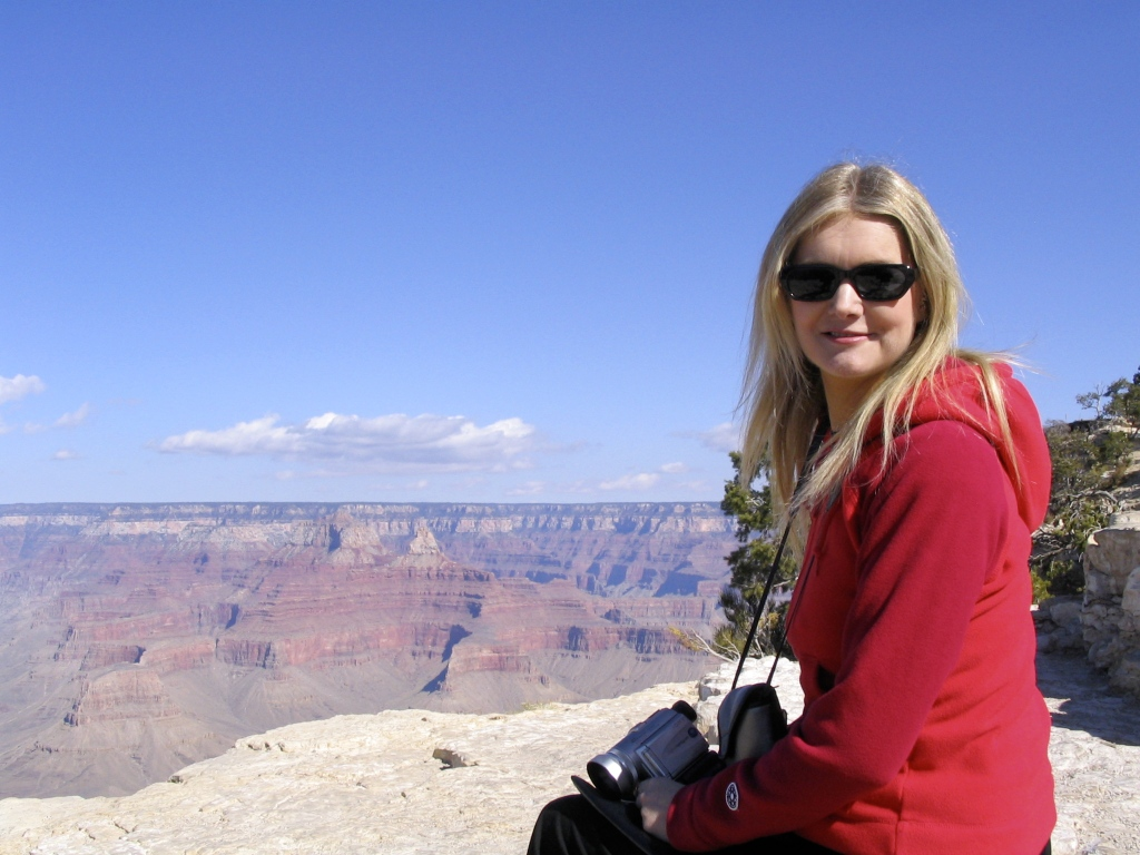 Tammy at the Grand Canyon