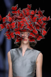 Butterfly head dress by Philip Tracy