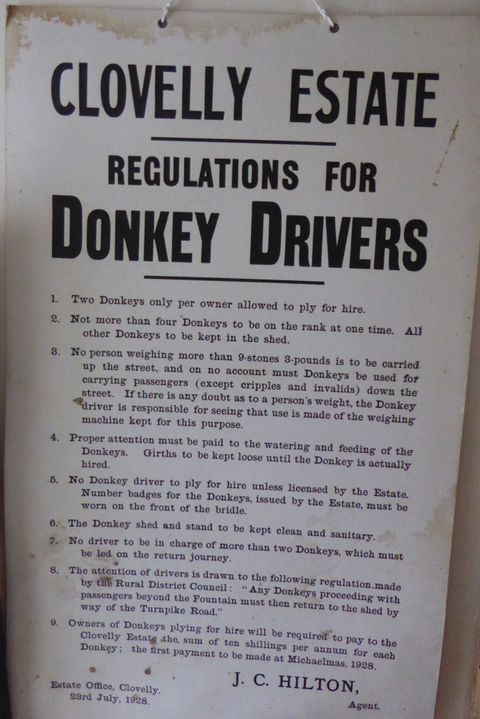 Clovelly donkey drivers