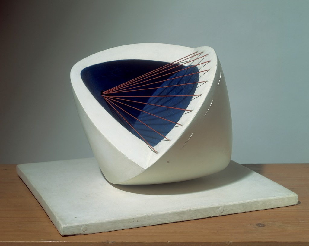 h Colour (Deep Blue and red)by Barbara Hepworth