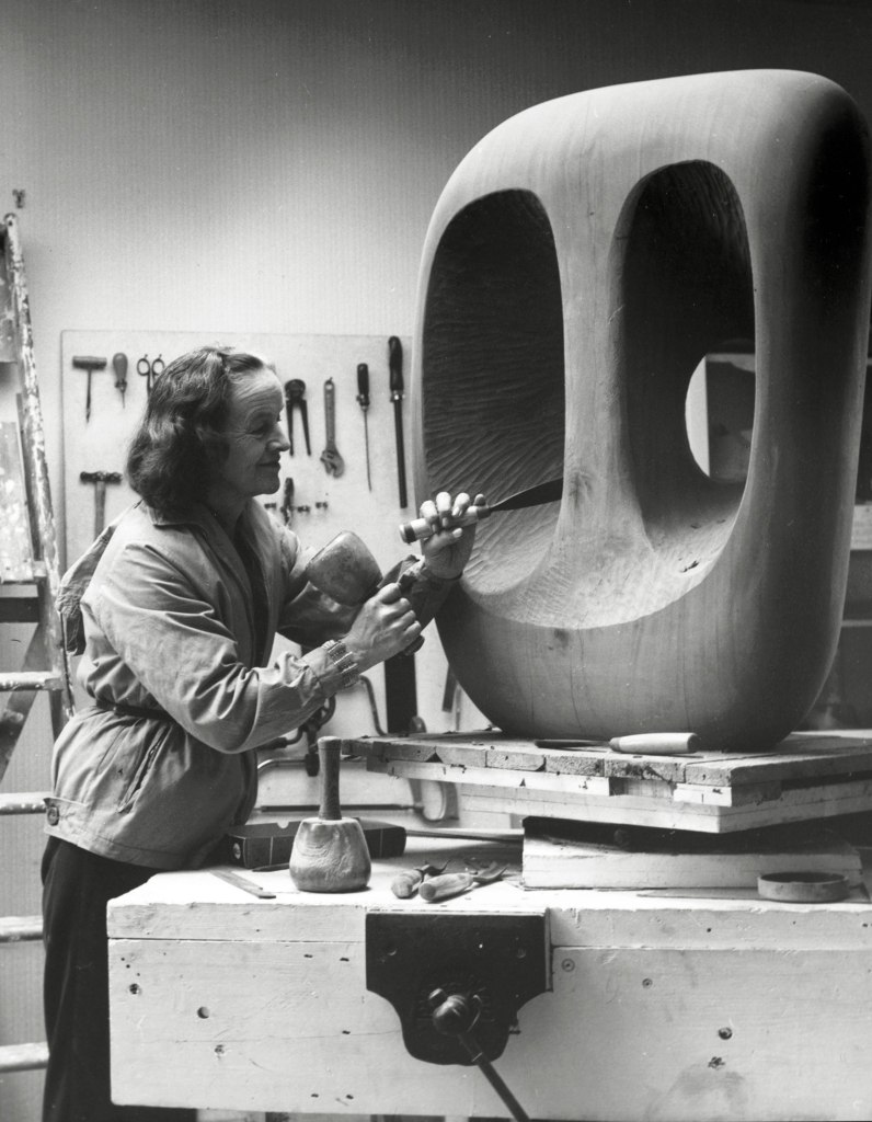 Barbara Hepworth working in St Ives c/o Val Wilmer and Bowness