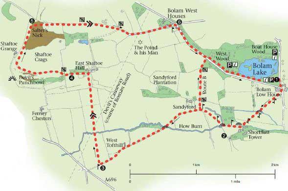 Shaftoe Crags walk c/o Northumberland County Council