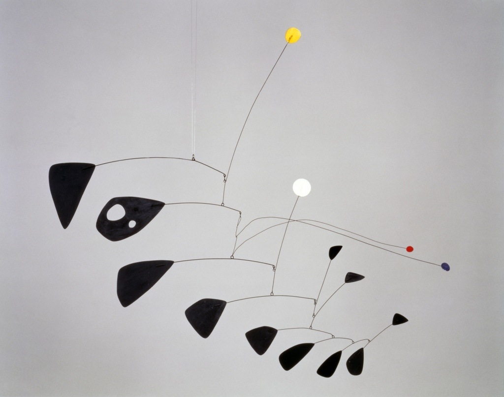 Antennae with Red and Blue Dots by Alexander Calder