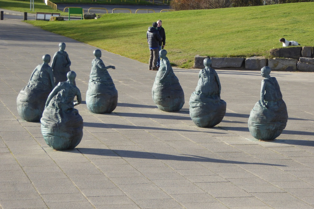 Munoz South Shields beach and sculptures