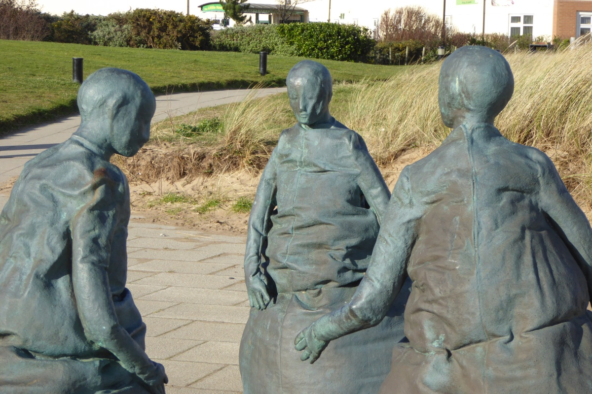 Art on the beach - Conversation Piece - South Shields