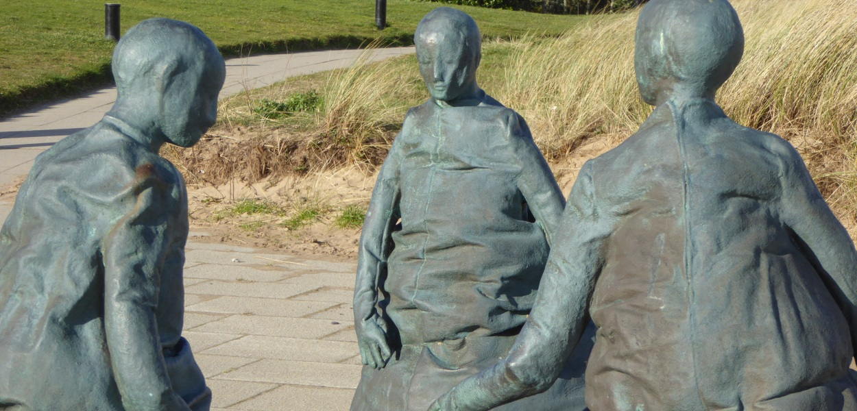 Munoz beach sculpture in South Shields