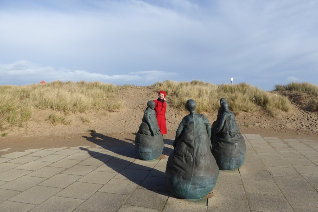 South Shields beach and sculptures