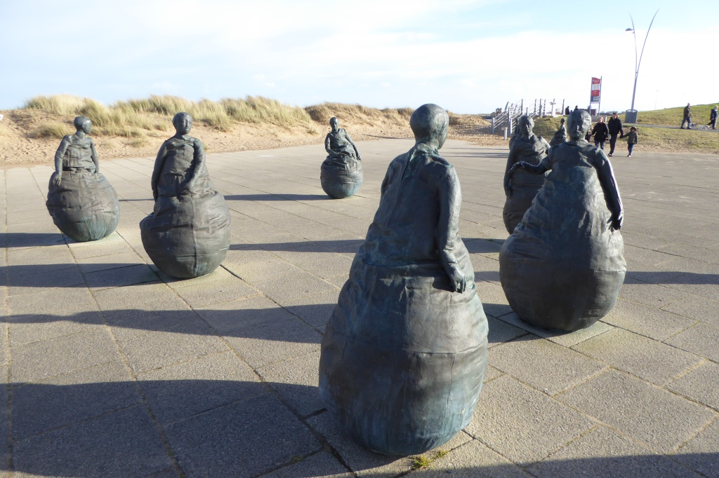 Munoz beach sculpture in South Shields South Shields