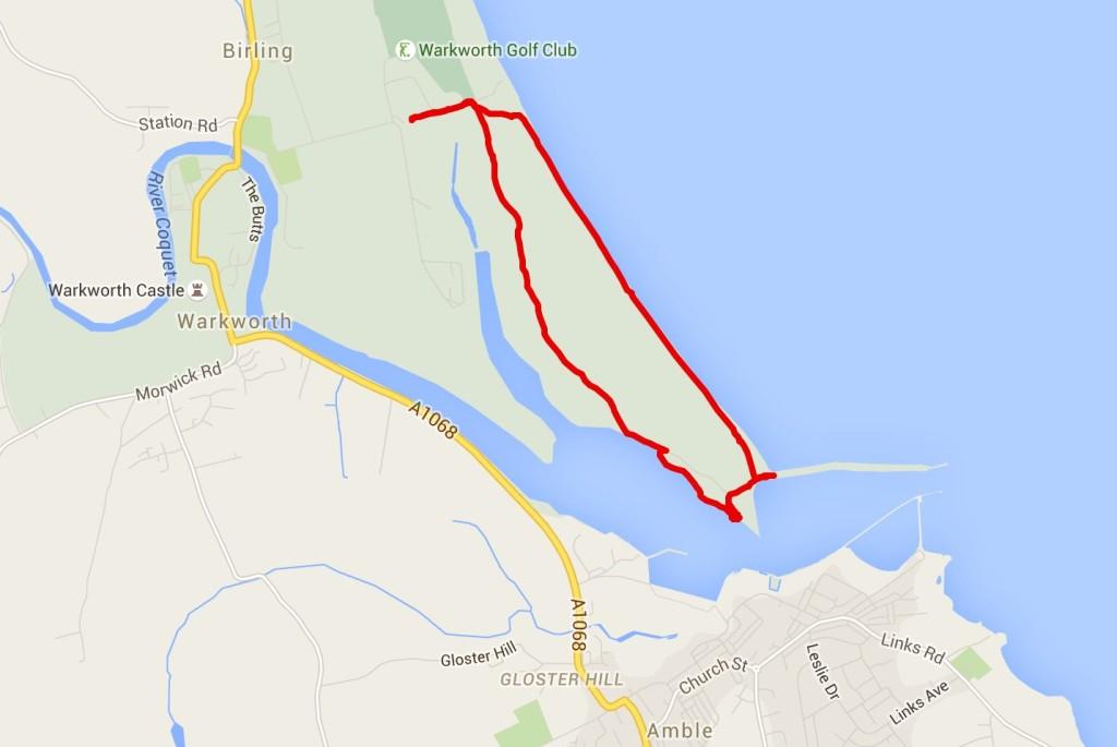 Amble walk map