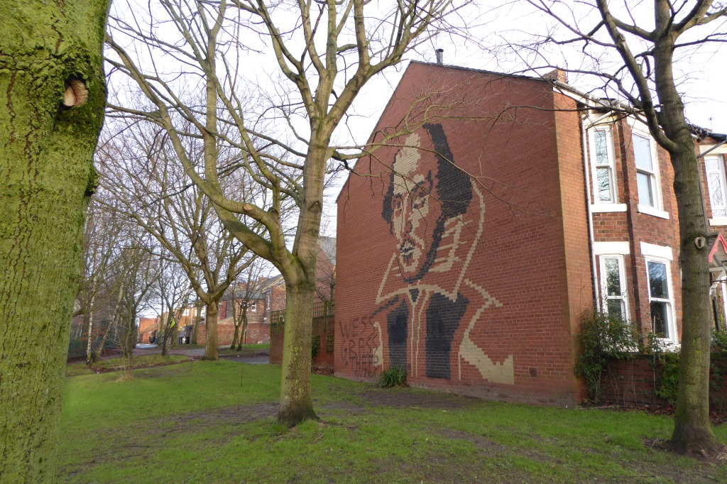 Shakespeare mural Newcastle