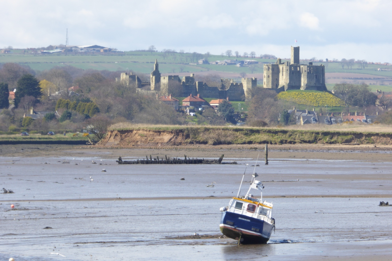 Amble harbour and Warkworth Castle