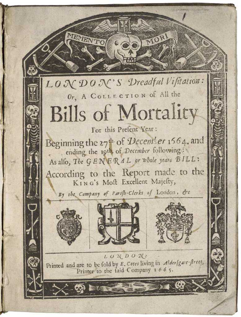 Plague London_folger_Bills of Mortality c/o Folger Shakespeare Library