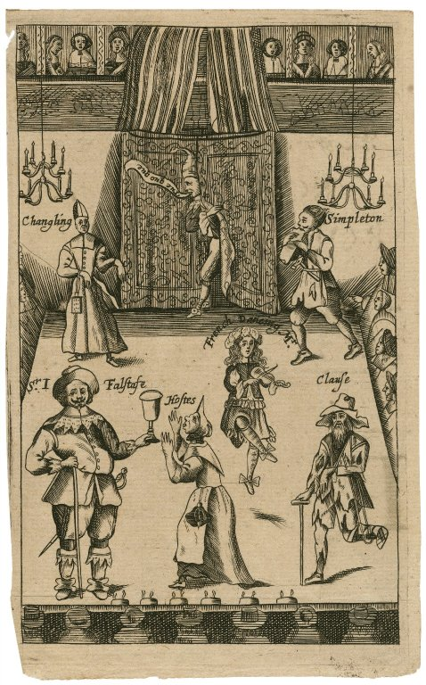Elizabethan production of Shakespeare c/o Folger Shakespeare Library