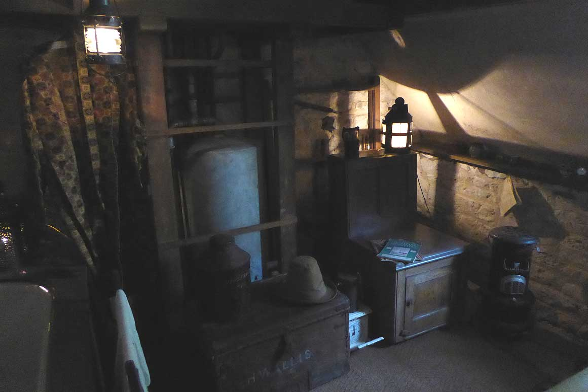 Moody low-lit room at Snowshill