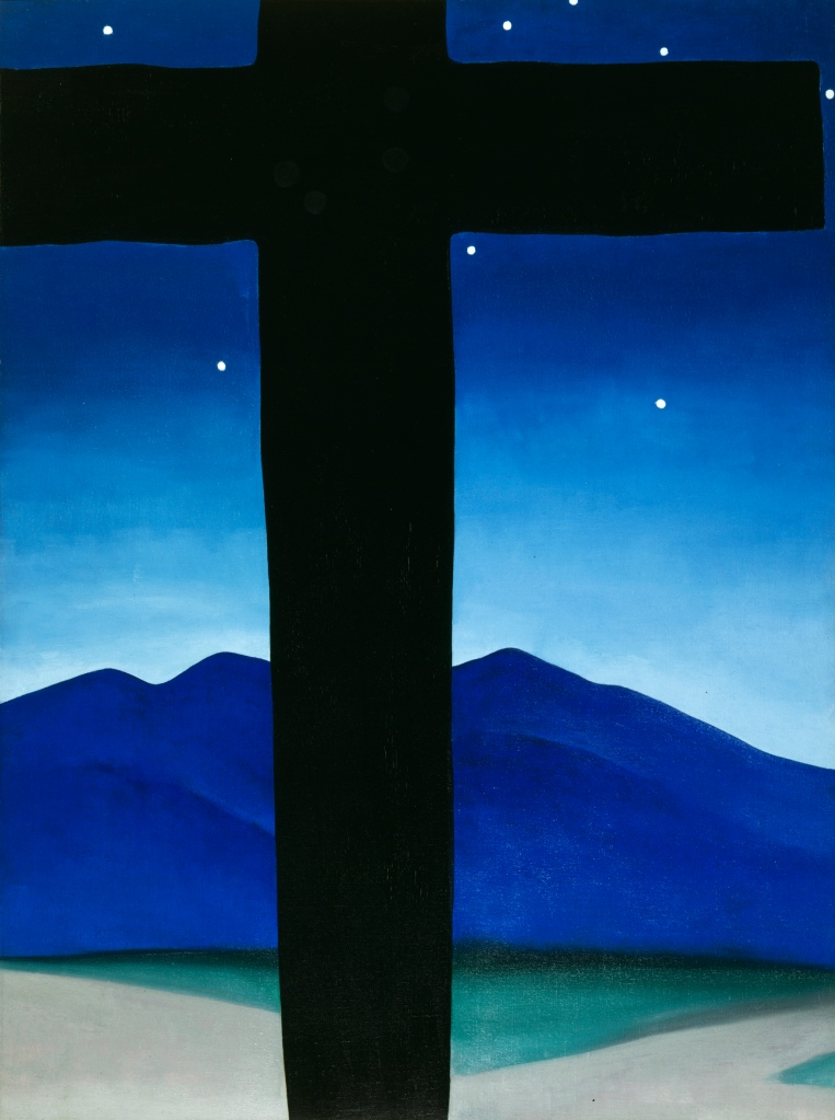 Black Cross with Stars and Blue - Georgia O'Keeffe