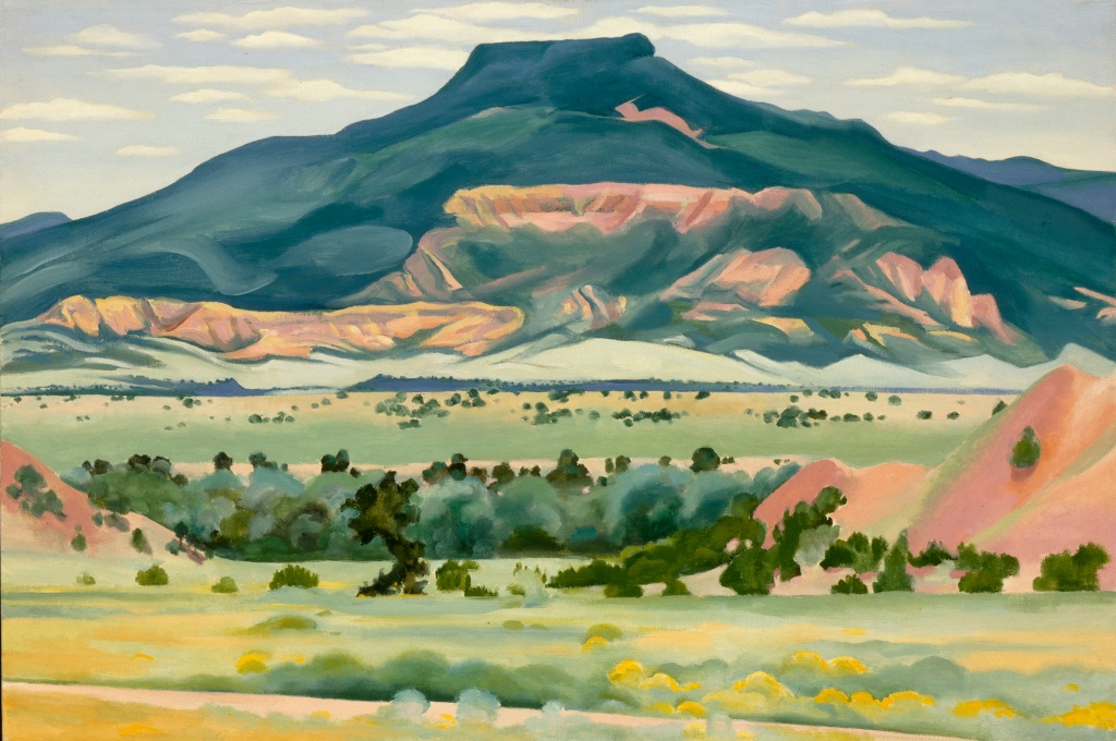 Georgia O'Keeffe Black Mesa Landscape, New Mexico / Out Back of Marie's II 1930 Oil on canvas mounted on board 24 1/4 x 36 1/4 (61.6 x 92.1) Georgia O'Keeffe Museum. Gift of The Burnett Foundation © 2016 Georgia O'Keeffe Museum/ DACS, London.