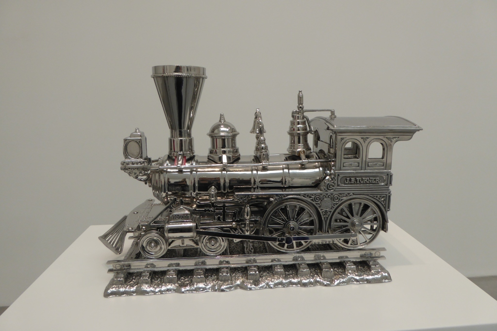 Steam train by Jeff Koons