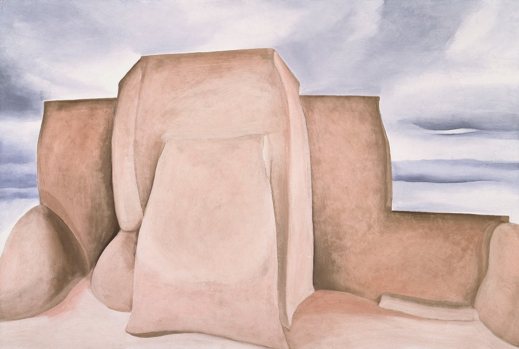 Georgia O'Keeffe (1887-1986); Ranchos Church, New Mexico; 1930-1931; Oil on canvas; Amon Carter Museum of American Art, Fort Worth, Texas; 1971.16