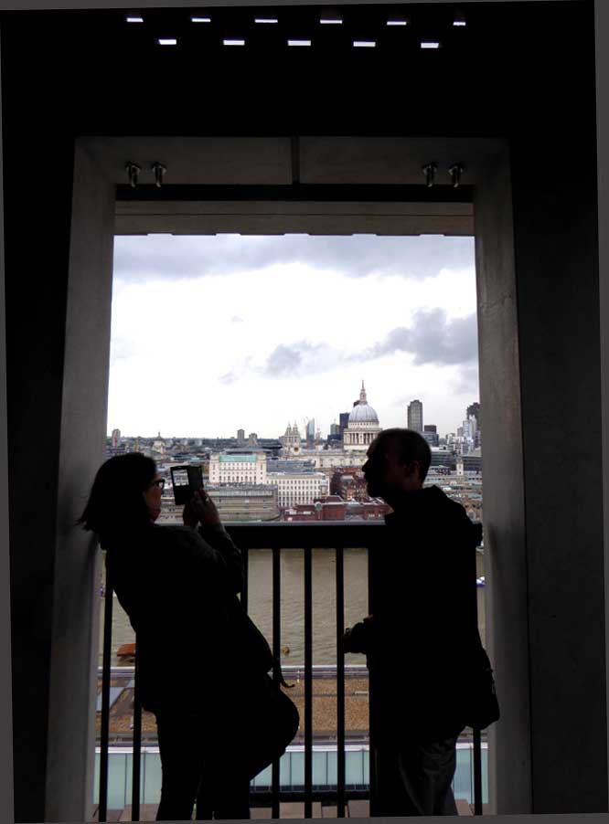 Tate Modern view couple