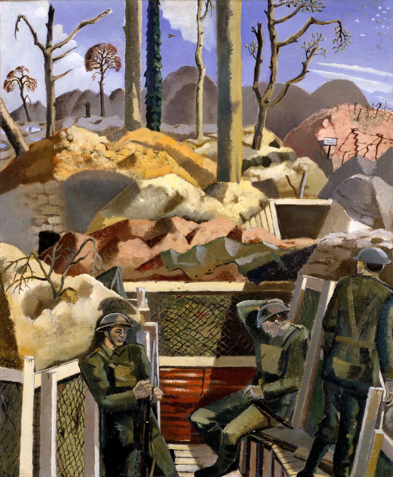 Spring in the Trenches - Paul Nash c/o Tate London