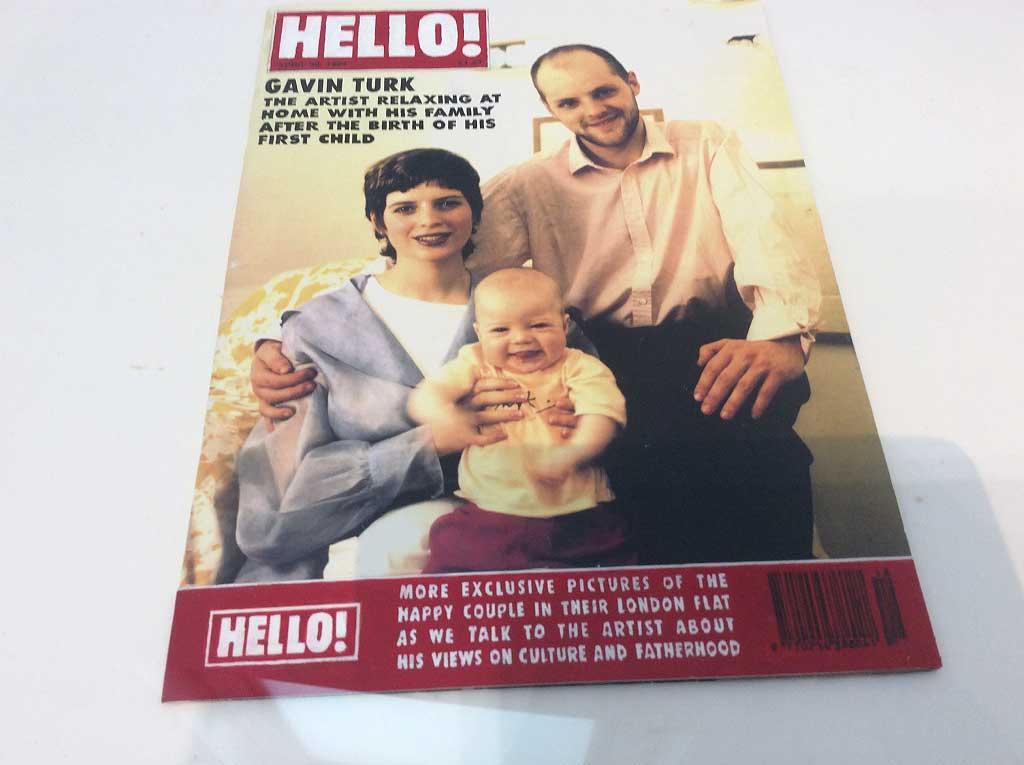 Gavin Turk's spoof of Hello!