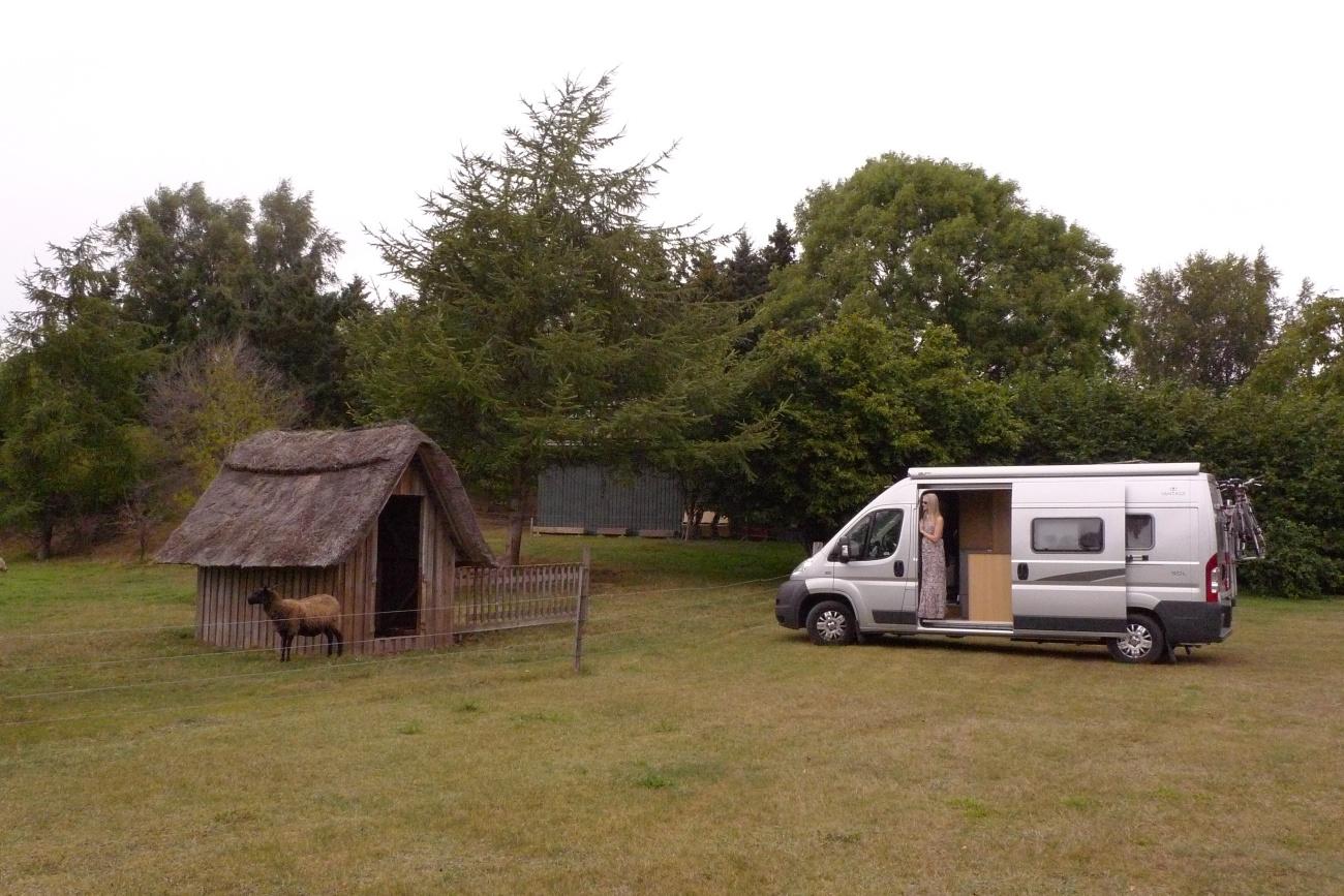 Camper van in Denmark