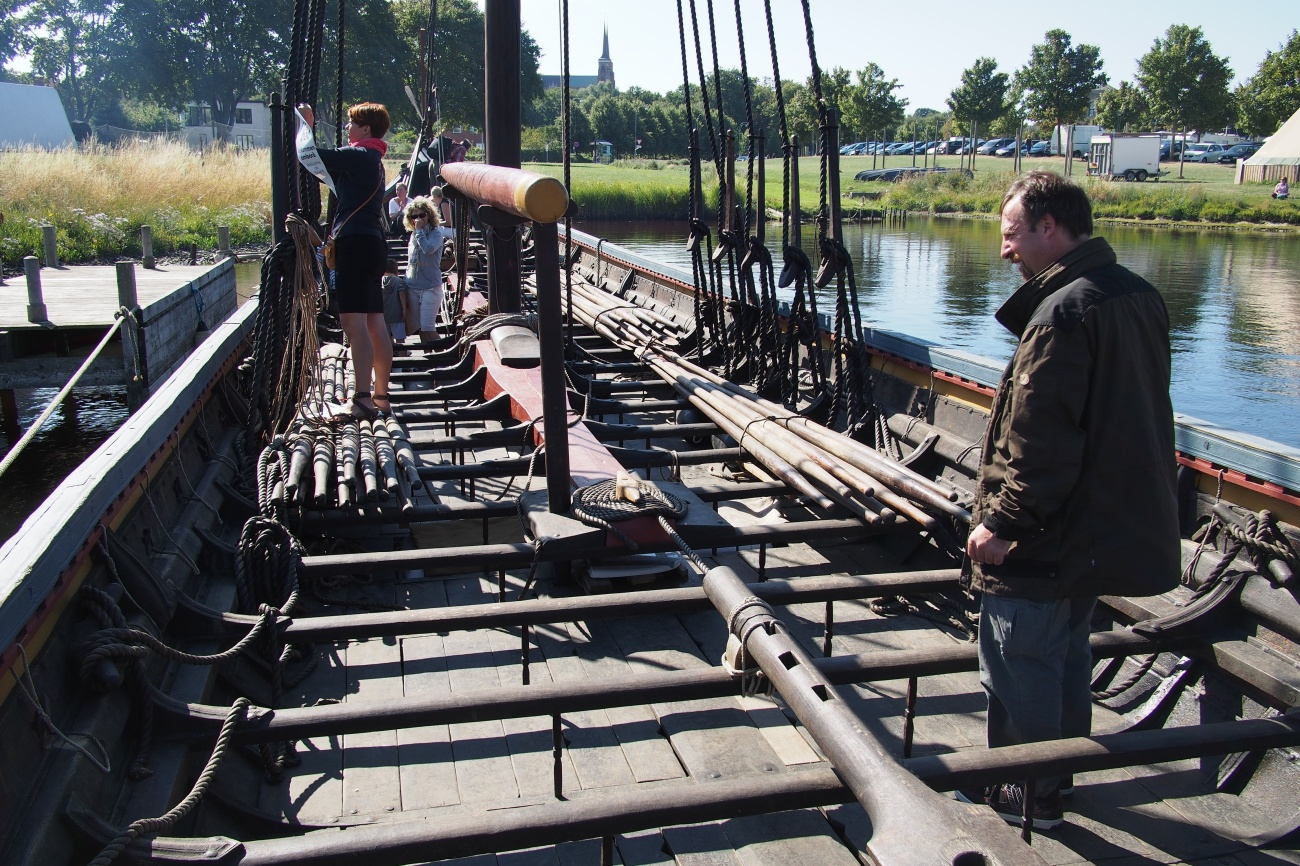 Viking replica boat in Roskilde