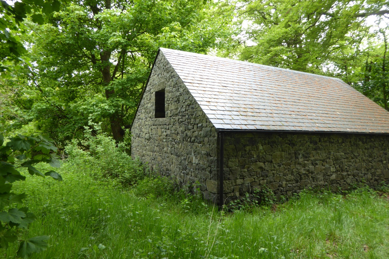 Goldsworthy shed at Jupiter Artland