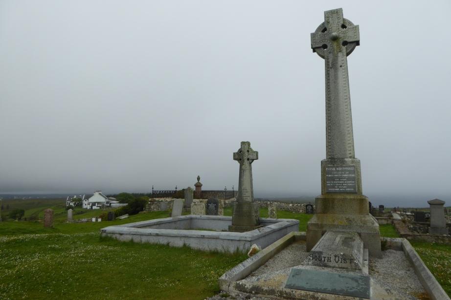 Kilmuir Skye graveyard + Fiona McDonald