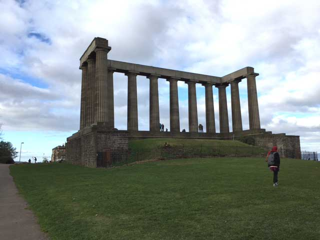 Scottish National Monument Edinburgh Calton Hill