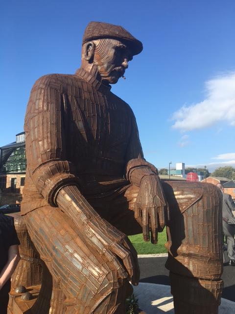 North Shields Fish Quay statue