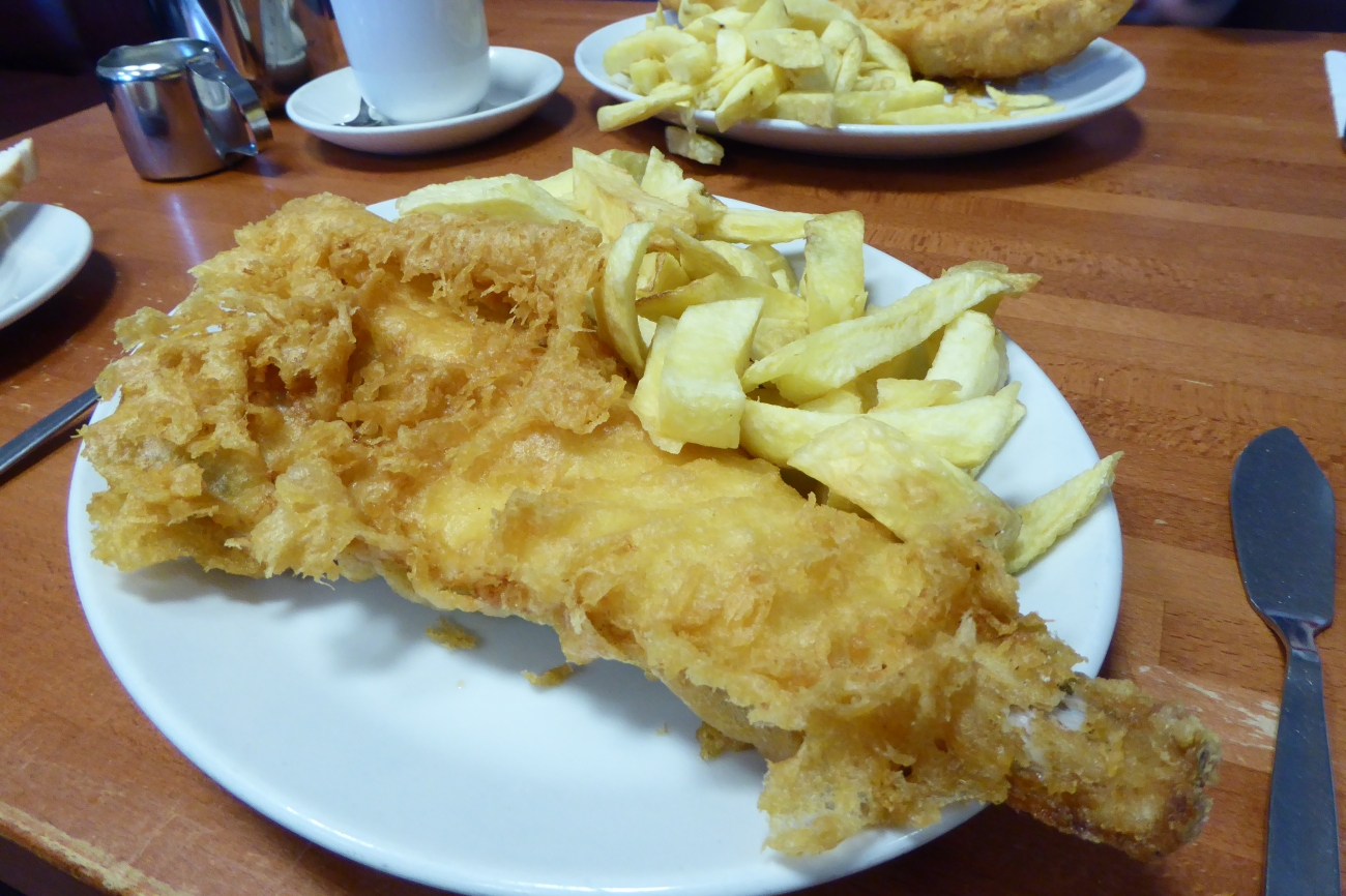 Fish and chips North Shields stye