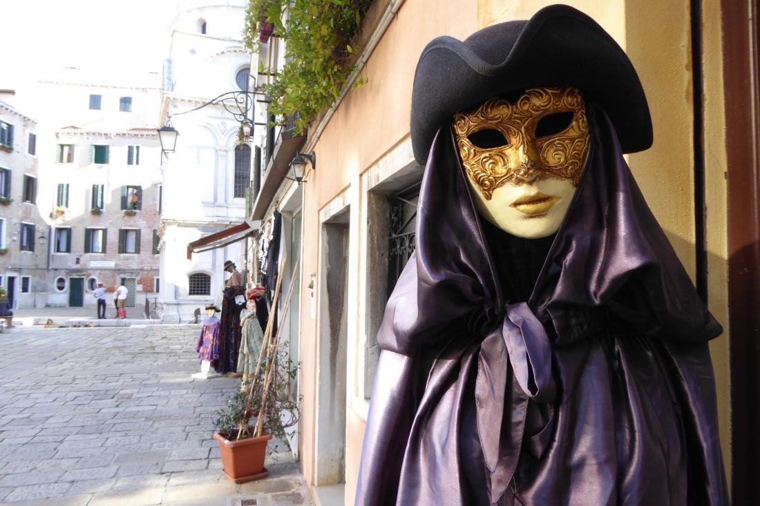 Venice mask wearer