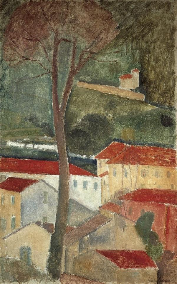 Cagnes Landscape - Modigliani