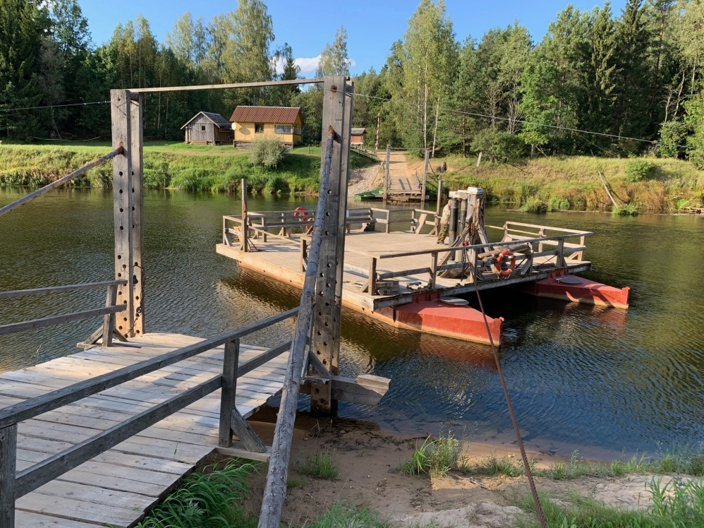 Ligatne boat crossing Latvia