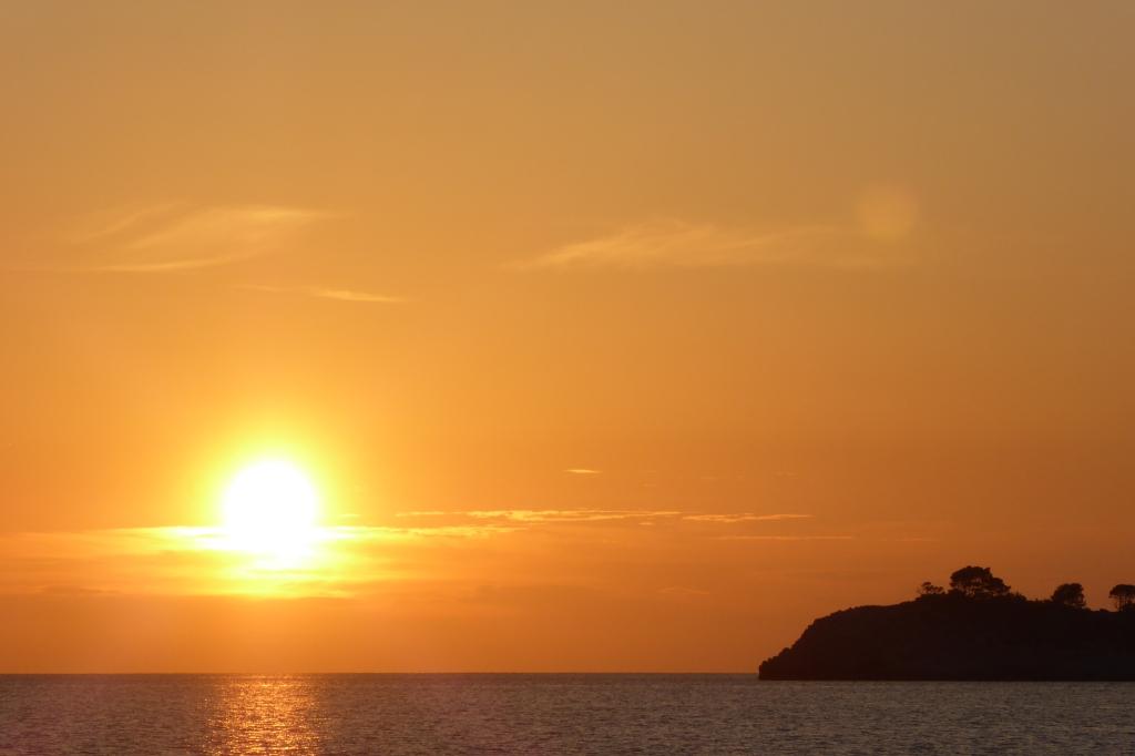Dubrovnik island sunset