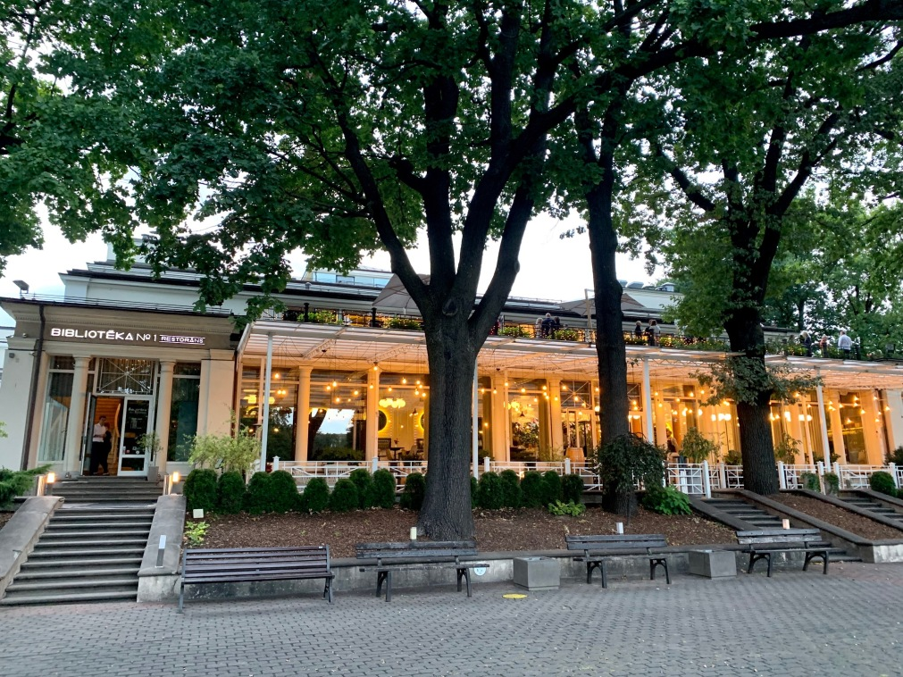 Riga park restaurant