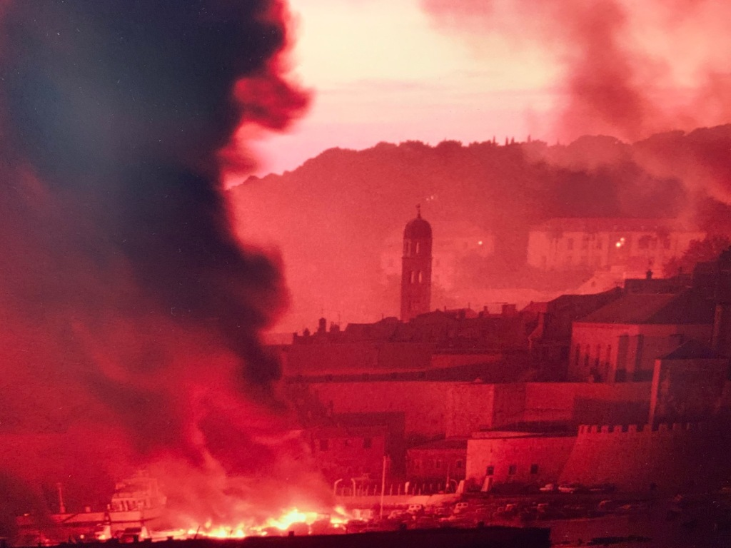 Dubrovnik on fire