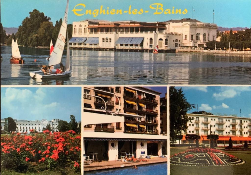 Enghien les Bain 1970s postcard
